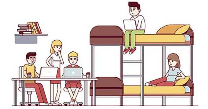 étudiants dans leur logement