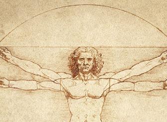 L'homme de Vitruvian de Léonard de Vinci