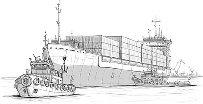 cargo charég de containers